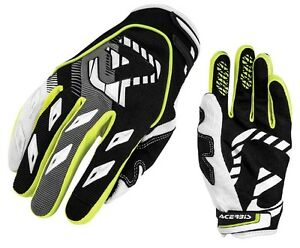 GUANTI-GLOVES-MOTO-ENDURO-CROSS-ACERBIS-MX1-GIALLO-YELLOW-NEON-NERO-TG-L