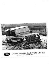 LAND ROVER ONE TEN V8  PRESS PHOTO 'BROCHURE RELATED' MAY 1985