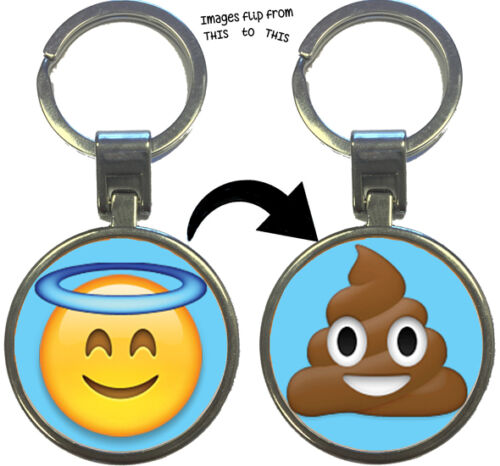 Emoji Emoti Key Rings Lenticular Keyring Keychain Birthday Stocking Filler Gift