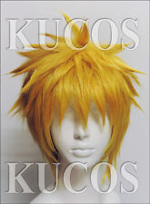 Uzumaki Naruto Horage Anami Hight Quality Short Golden Wigs For Cosplay Party