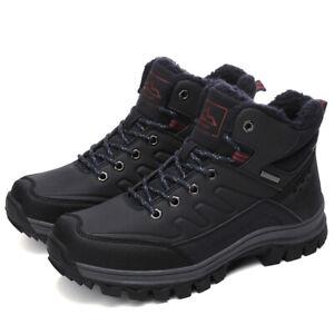 Para-Hombres-Zapatos-De-Senderismo-Botas-Informales-Zapatos-de-Tobillo-A-Prueba-De-Agua-Nieve