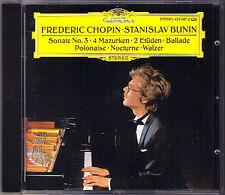 Stanislav BUNIN: CHOPIN Sonata No.3 Ballade 4 Mazurkas Op.33 Polonaise Erude CD