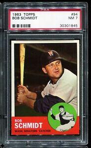 1963-Topps-Baseball-94-BOB-SCHMIDT-Washington-Senators-PSA-7-NM