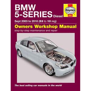 4901 bmw 5 series 2 0 2 5 3 0 turbo diesel 03 10 53 10 reg haynes rh ebay co uk Haynes Manuals UK Haynes Manuals UK