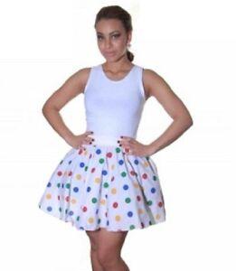18-034-Long-Ladies-Women-Polka-Dot-RockNRoll-Grease-Poodle-Skirt