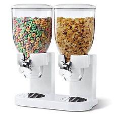 Doble Transparente Pasta cereales Dispensador de alimento seco contenedor de almacenamiento dispensar máquina