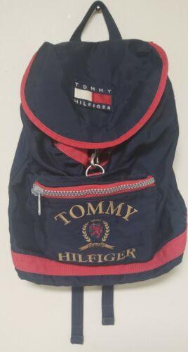 VINTAGE Tommy Hilfiger Backpack, Flag, Spell Out B