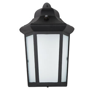 maxxima led sconce outdoor wall light frosted glass photocell sensor