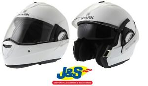 Shark-Evoline-S3-Flip-Front-Motorcycle-Helmet-White-P-J-Rated-Touring-J-amp-S