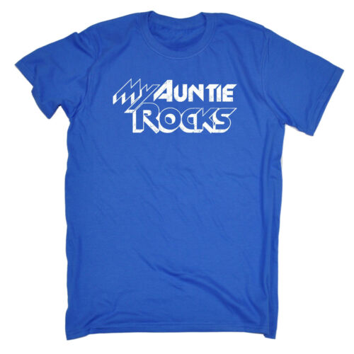 My Auntie Rocks T-SHIRT Aunt Mother Funny Tee Aunty Birth Baby Gift Birthday