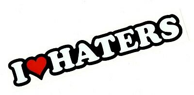 dgk car hate Love Decal I Heart Haters Sticker