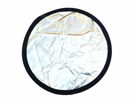 Alta reflectante con hoyuelos Reflector Plata 80cm Studio Reflector Plata//Negro