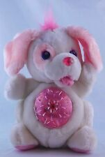 Secret Keepins Pups Kenner Pup Puppy Dog Plush Stuffed Animal White/Pink no key