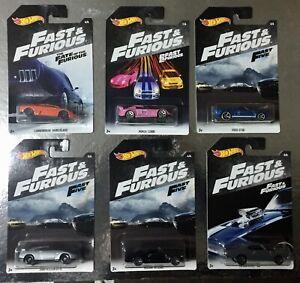 6-Automobili-Fast-amp-Furious-Auto-1-64-6-CM-Hot-Wheels-Nissan-Lamborghini-Ford