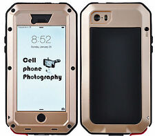 Shockproof Waterproof Aluminum Glass Metal Case Cover for iPhone 4S 5C 5S 6 Plus