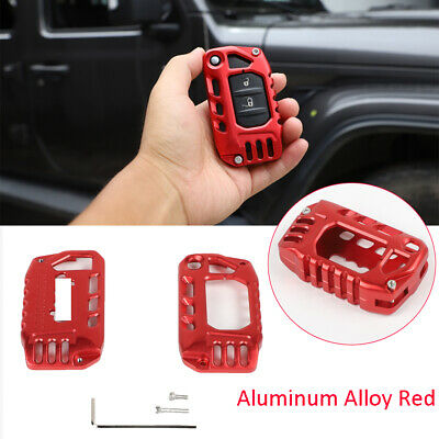 Red Alloy Key Cover Case Protector Shell For Jeep Wrangler ...