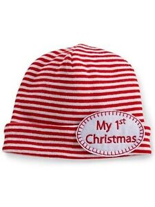 1698d8fd2f7 Image is loading Mud-Pie-Christmas-Baby-My-1st-Christmas-Hat