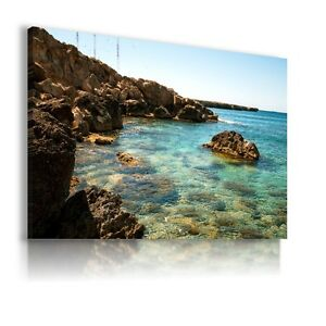 PANORAMA-SEA-BEACH-LAGOON-Perfect-View-Canvas-Wall-Art-Picture-AB51-X