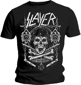 SLAYER-Skull-And-Bones-Revised-T-SHIRT-OFFICIAL-MERCHANDISE