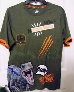 Jurassic World Boys And Girls Summer Short Sleeve T-shirt Casual Full Print Tee