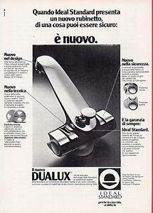 Pubblicita-Advertising-Werbung-1980-IDEAL-STANDARD-rubinetti-NUOVO-DUALUX