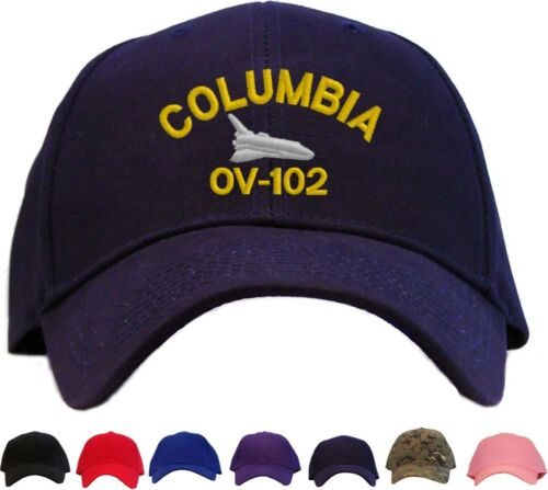 Space Shuttle Columbia Embroidered Baseball Cap Available in 7 Colors Hat