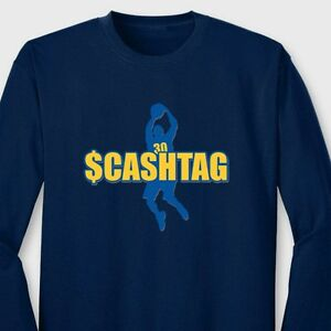 size 40 1df65 2f2b1 Details about $CASHTAG Golden State Warriors T-shirt Stephen Curry 30 Long  Sleeve Tee