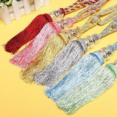1 Pair Crystal Beaded Tiebacks Curtain Tie Backs/Milt-color Tieback Holldbacks