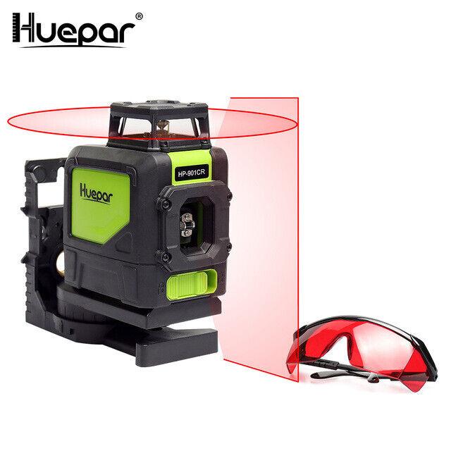 Niveau Laser-Niveauregulierung mit Laser Rot Powerleveling Professionell Huepar