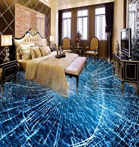 3D Papel de Parojo de suelo Azul fisura 865 Murales Parojo impresión AJ Wallpaper Reino Unido Limón