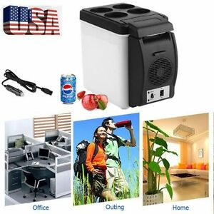 Car Small Refrigerator 12v Mini Fridge Compact Refridgerator Cooler Warmer -6L B