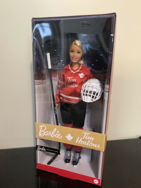 Barbie Mattel Tim Horton's Hockey Player NIB IN HAND Ready to ship BLONDE