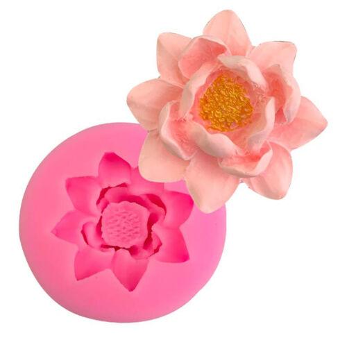 Lotus Flower Sugarcraft Fondant Silicone Mold Soap Mould Cake Tools Decorating.