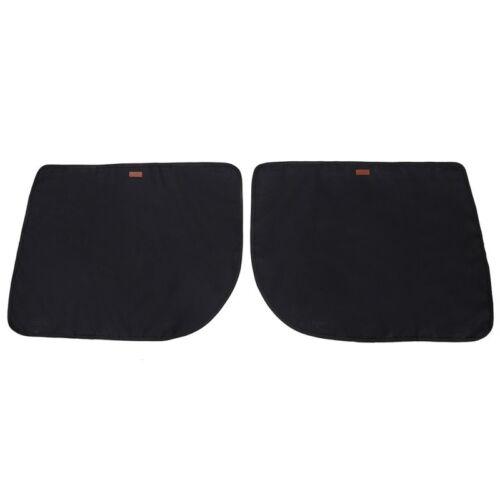 2Pcs Pet Dog Seat Cover Car Front/&Rear Door Panel Puppy Protector Scratch Guard