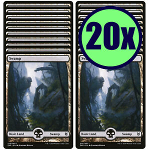 20x SWAMP 273 Full Art Basic Land NM/LP MTG Magic The Gathering Zendikar Rising