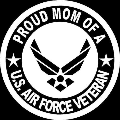 Proud Mom of A US Air Force Veteran Seal Vinyl Decal Bumper Sticker US Seller