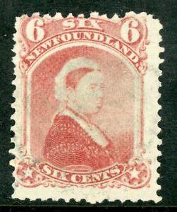 Canada-1894-Newfoundland-6-QV-Carmine-Lake-Scott-36-VFU-D410