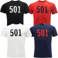 Men's Levi's Graphic 501  Solid Logo Crew Neck  T-shirt 4 Colours S,M,L,XL,2XL