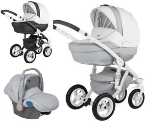 Adamex Barletta Deluxe Carbon 3in1 Luxury stroller kinderwagen car seat