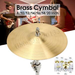 golden cymbal brass splash 8 10 12 14 16 18 20 inch drum kit for crash drum set ebay. Black Bedroom Furniture Sets. Home Design Ideas