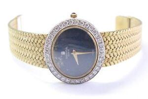 Mujer Universal Geneve 18K Diamante Oro Pulsera Reloj Con