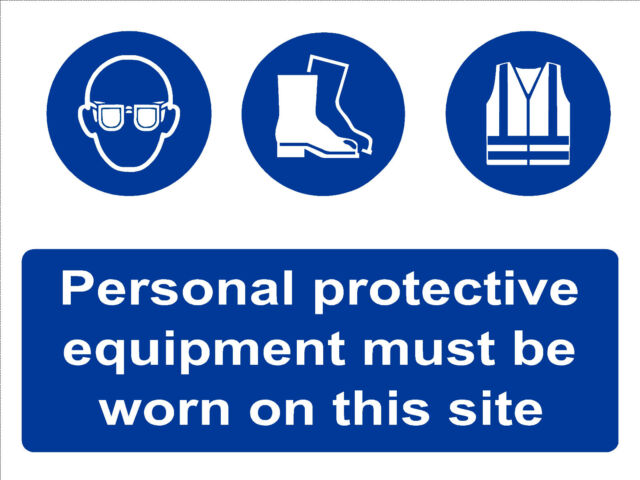 Safety Sign Ppe Personal Protective Equipment Ebay