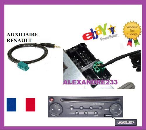 CABLE AUX AUXILIAIRE RENAULT UDAPTE LIST CLIO 2 CLIO 3 MEGANE 2 SCENIC 2