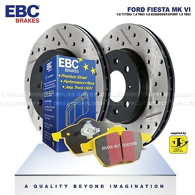 EBC Front  Turbo Groove//GD Sport Brake Discs and Yellowstuff Pads Kit PD13KF448