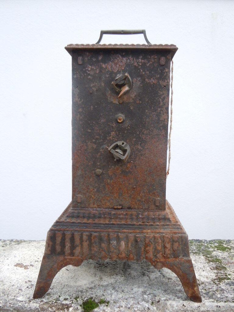 Tourne broche cheminee type capucin mouvement mecanique epoque 19eme