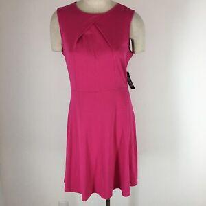 New-York-and-company-women-s-dress-size-large-pink-knit-sleeveless-New