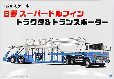 Fujimi 24TR-03 011967 Hino Super Dolphin Tractor and Transporter 1/24 kit