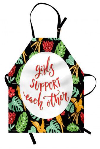 Tropical Landscape Apron Unisex Kitchen Bib with Adjustable Neck Cooking Baking