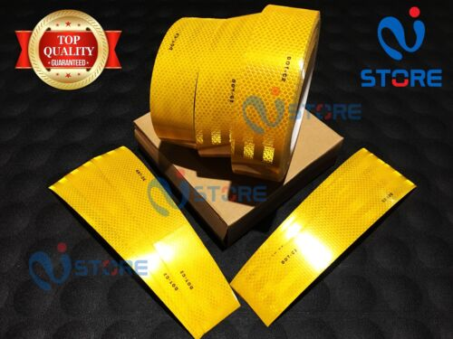 DOT-C2 Conspicuity Reflective Tape Yellow Safety Warning Tractor Bus Car RV Bike