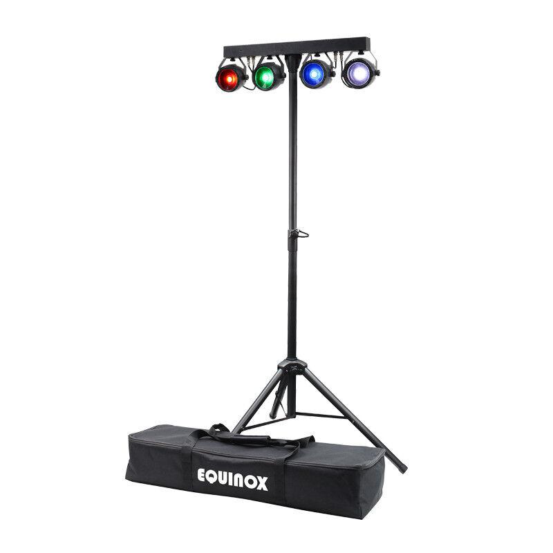 Equinox MicroBar COB System All-in-one T-Bar LED Par DJ Disco Lighting Kit